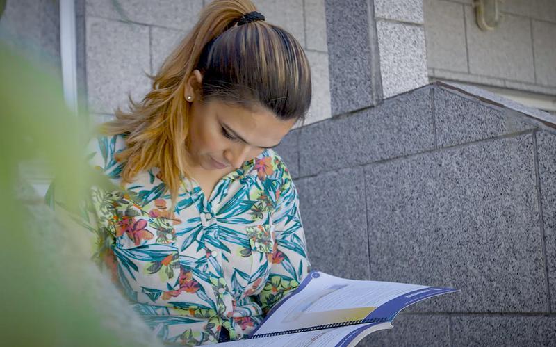 Claudia studies