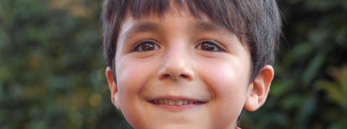 glückliches Kindergesicht