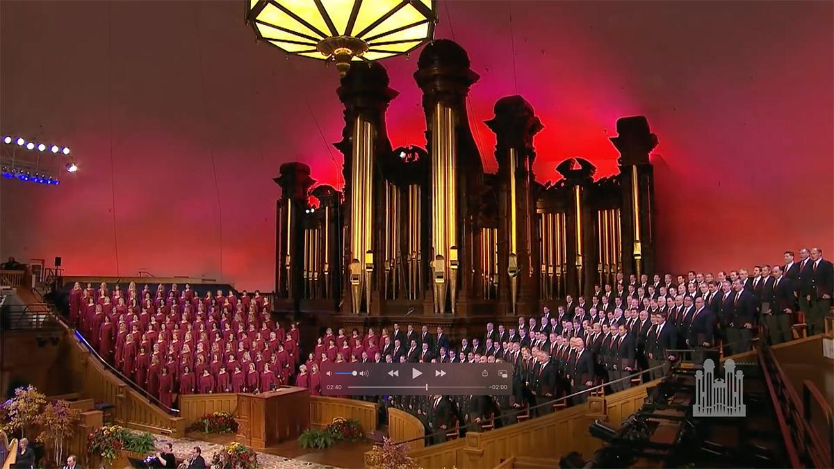Zbor Tabernacle Choir a Orchestra at Temple Square