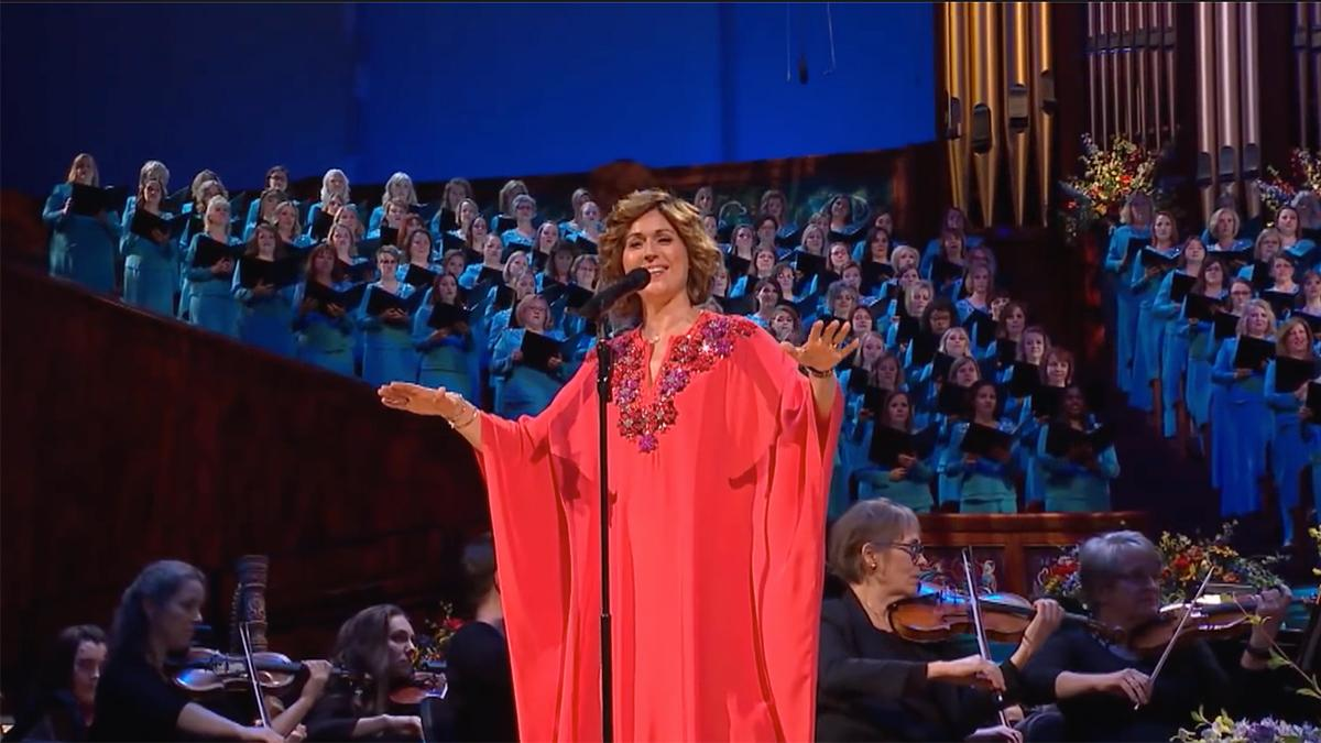 Sissel sjunger med The Tabernacle Choir and Orchestra at Temple Square