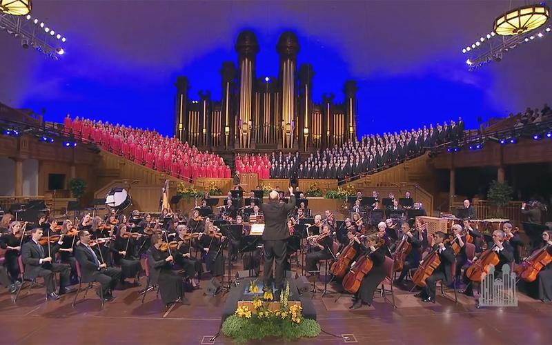 Tabernacle Choir a Orchestra at Temple Square