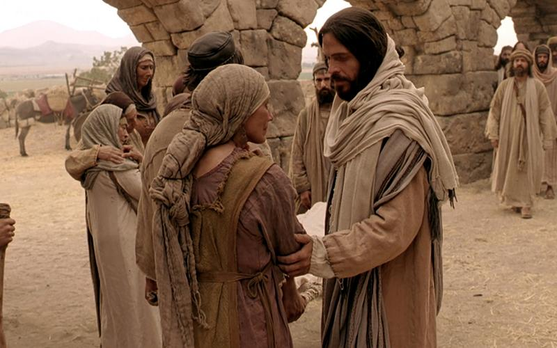 Slika Spasitelja koji razgovara sa ženom.