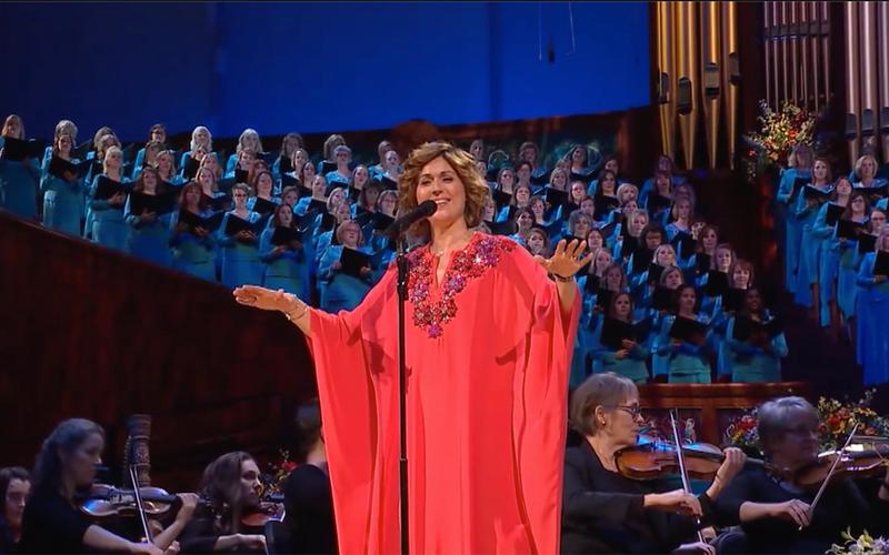 Sissel canta com o The Tabernacle Choir and Orchestra at Temple Square