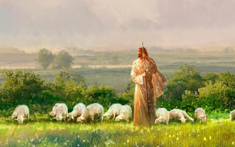 Cristo como um pastor