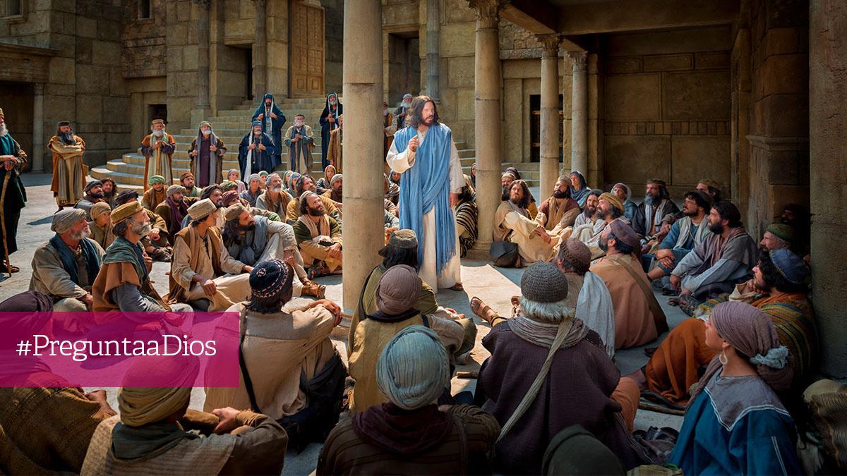 Jesús enseña en la sinagoga
