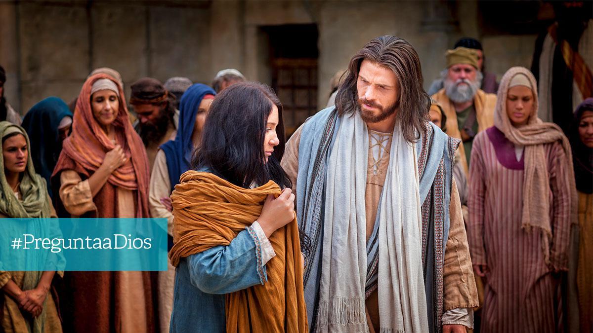 Jesús da consejo a una mujer adúltera