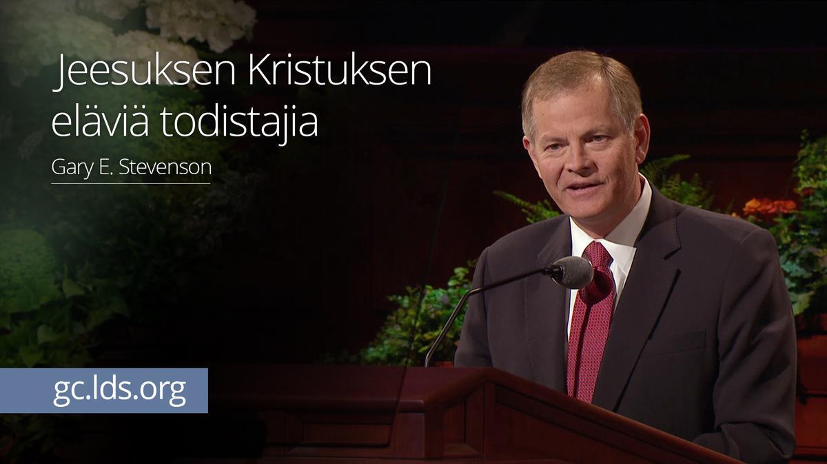 Jeesuksen Kristuksen eläviä todistajia – vanhin Stevenson