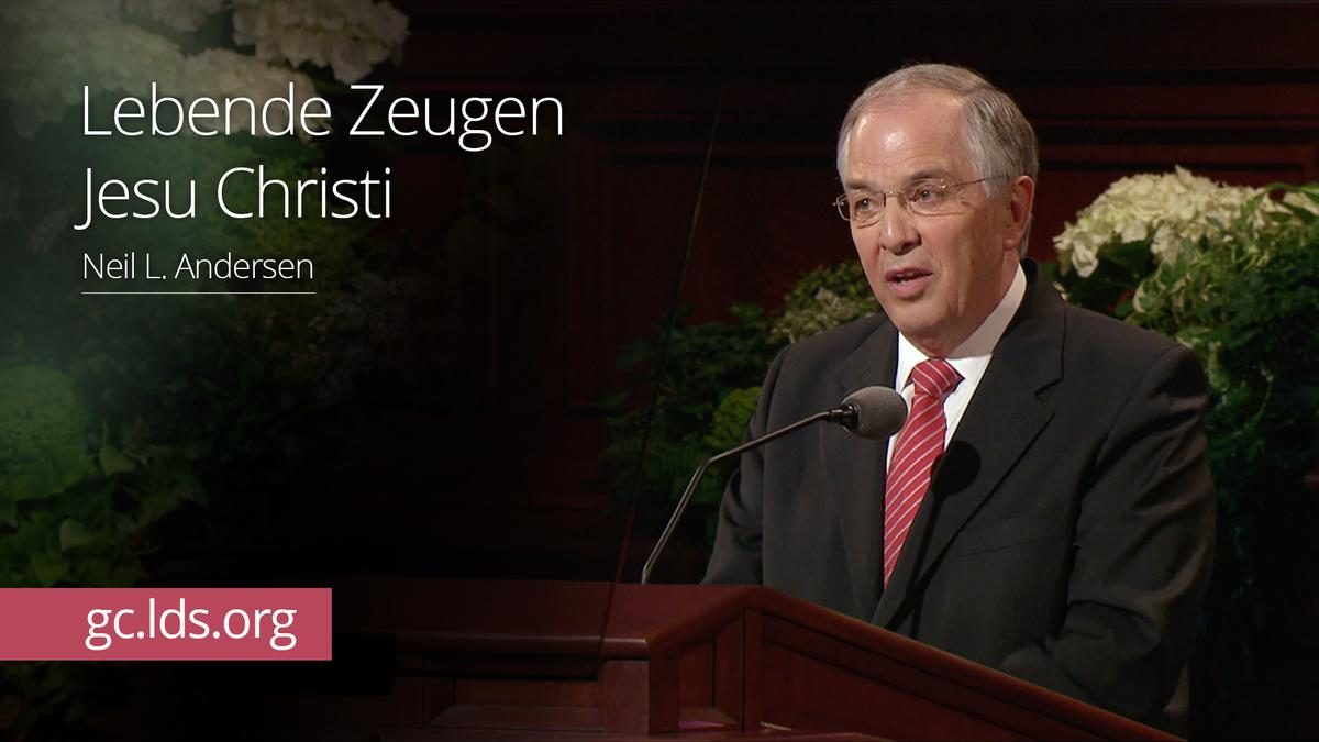 Lebende Zeugen Jesu Christi: Elder Andersen