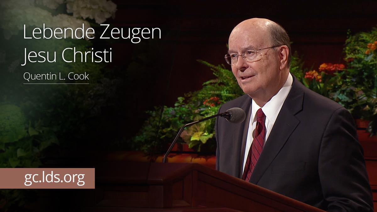 Lebende Zeugen Jesu Christi: Elder Cook