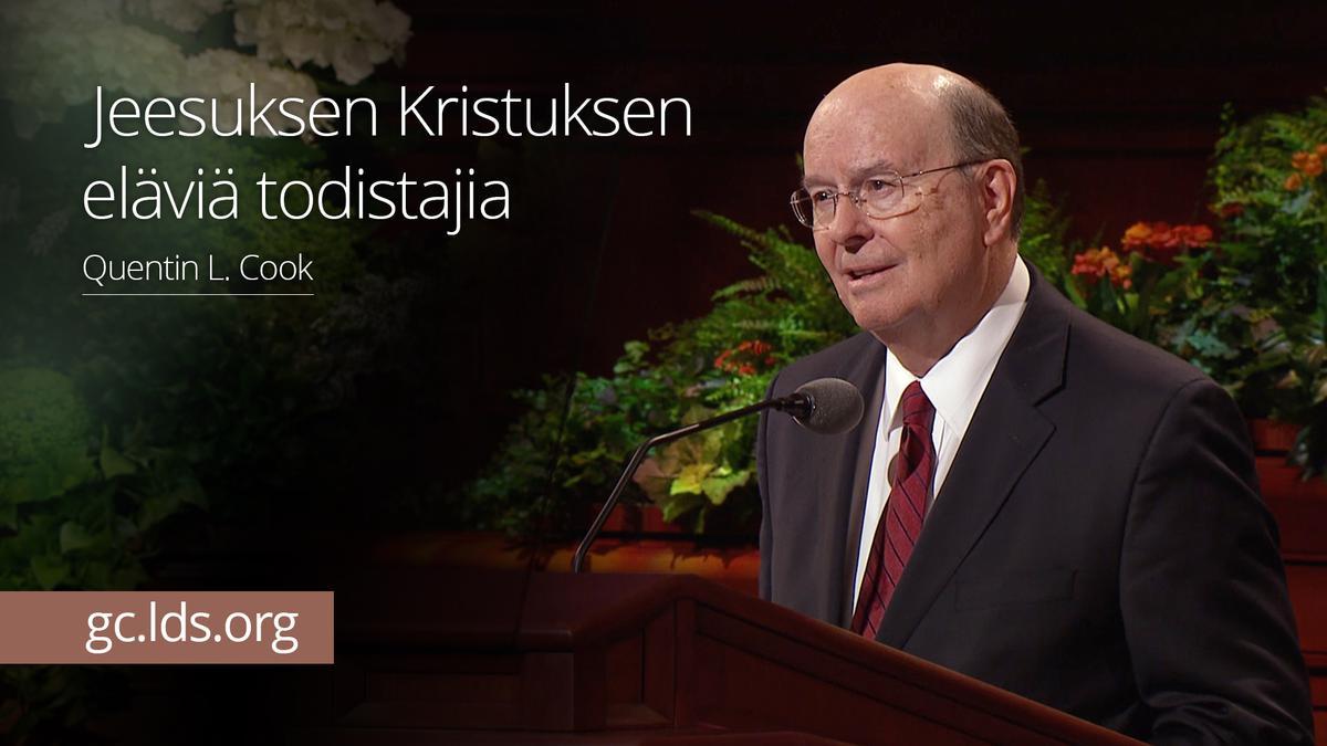 Jeesuksen Kristuksen eläviä todistajia – vanhin Cook