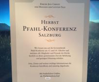 Einladung zur Herbstkonferenz 2018 des Pfahles Salzburg