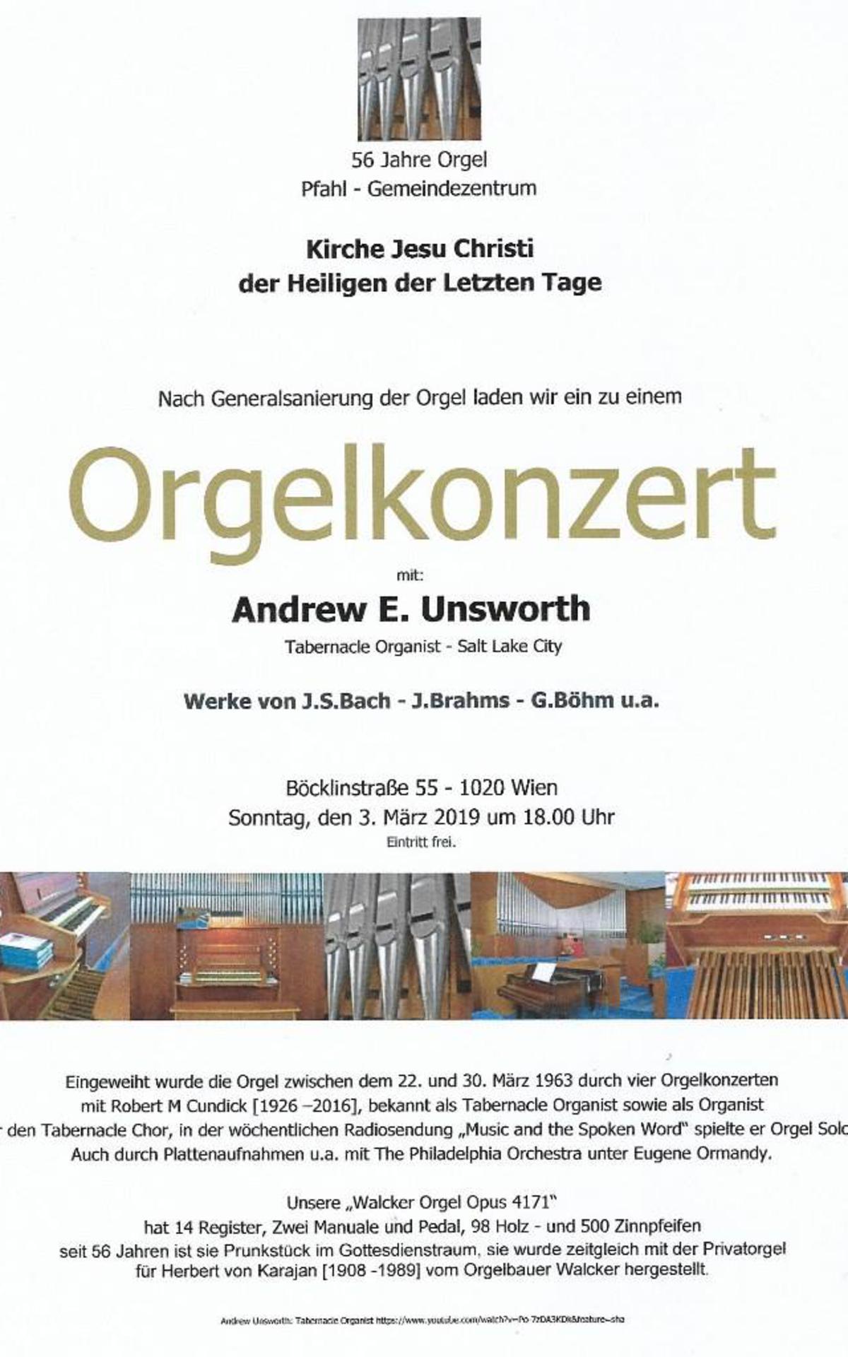 Einladung zum Orgelkonzert
