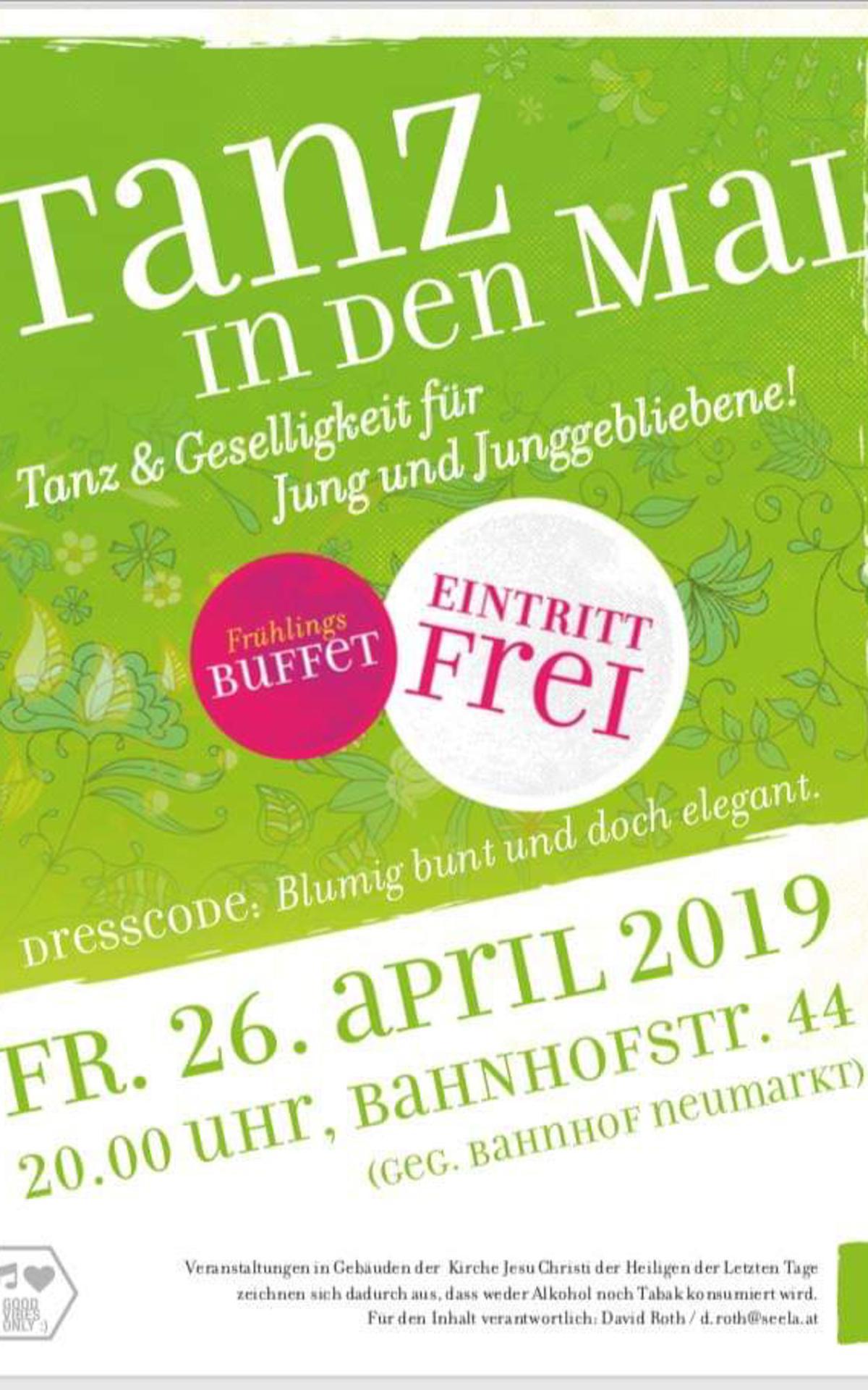 Am 26. April 2019 lädt die Gemeinde Neumarkt Jung und Alt zu einem Tanzabend