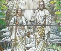 Gott Vater und Jesus Christus erschienen dem Propheten Joseph Smith im Frühjahr 1820 (unbekannter Künstler)