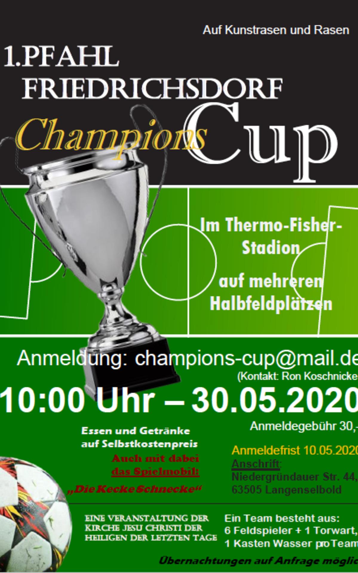 Einladung zum Friedrichsdorf Cup