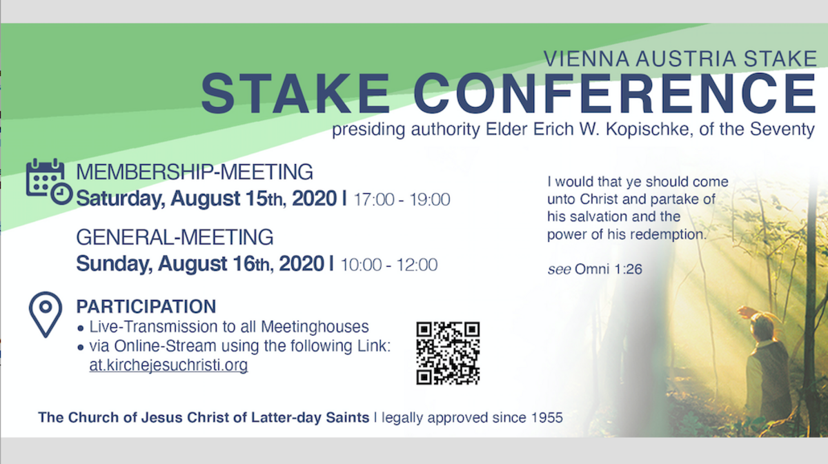 Stake Conference Vienna 2020