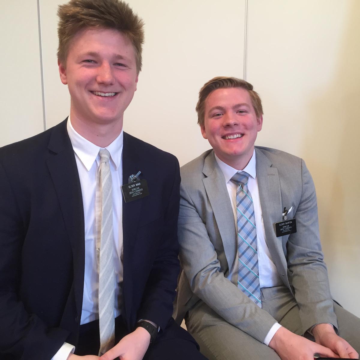 Elder Mika und Elder Burton dienen zur Zeit in Klagenfurt