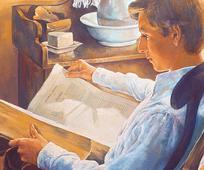 Joseph Smith las die Heiligen Schriften und war inspiriert dazu, zu Gott um die Beantwortung seiner Fragen zu beten.