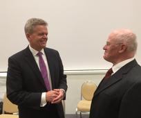 Elder Torben Engbjerg besuchte den Pfahl Salzburg