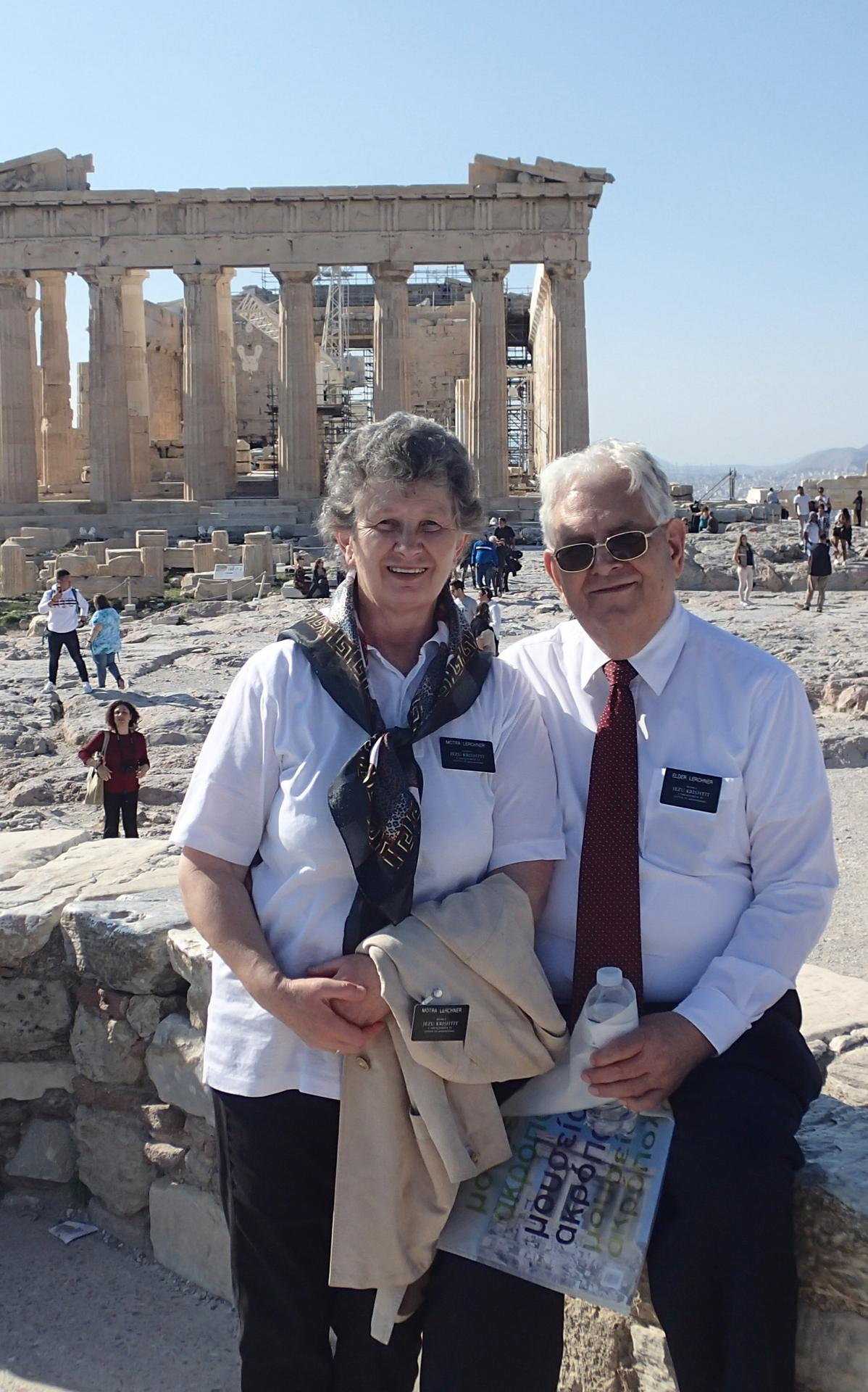 Schwester Ingrid und Elder Heinrich Lerchner als Missionare in der Adriatic South Mission