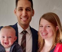 Der neue Gemeindepräsident mit seiner Frau Alina und seinem Sohn Linos
