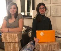 Junge Damen aus der internationalen Gemeinde in Wien schenkten im Jänner 2021 obdachlosen Mitmenschen ein Stück Wärme