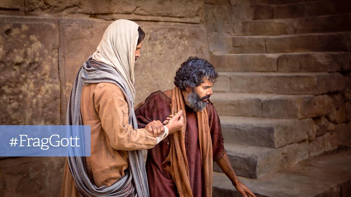 Jesus stärkt einen Mann