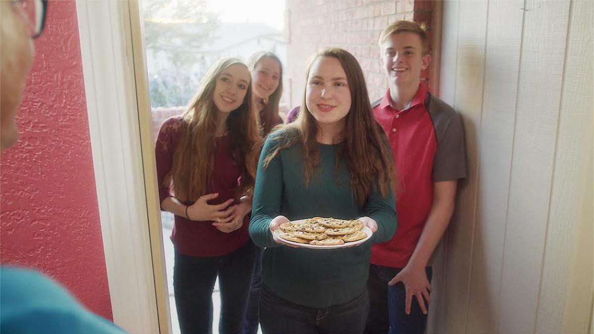 Junge Erwachsene dienen andern