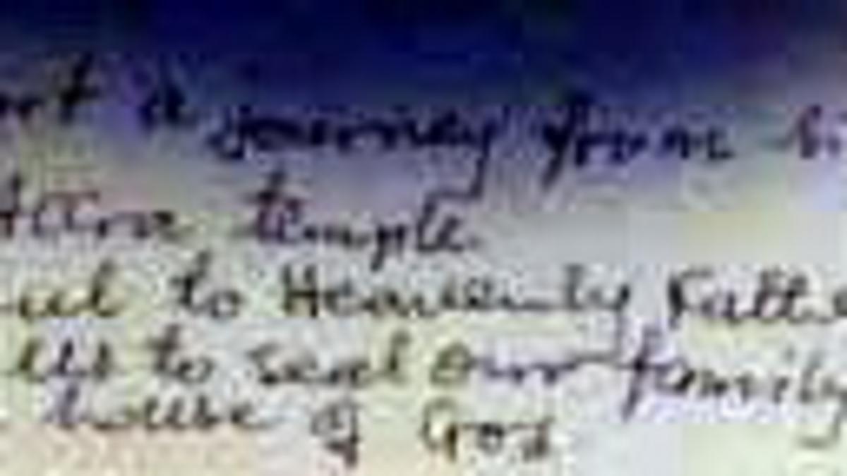Sestra Kovei je napisala njenih občutkov, ko so lahko šli prvič v tempelj