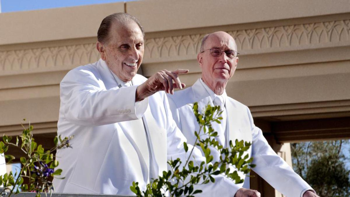 President Monson at the temple