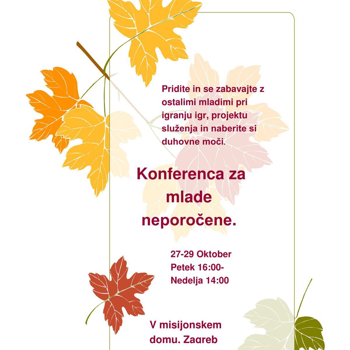 Konferenca za mlade neporočene.