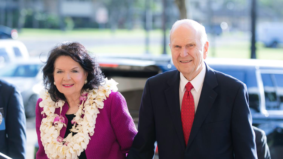 president russell and his wife