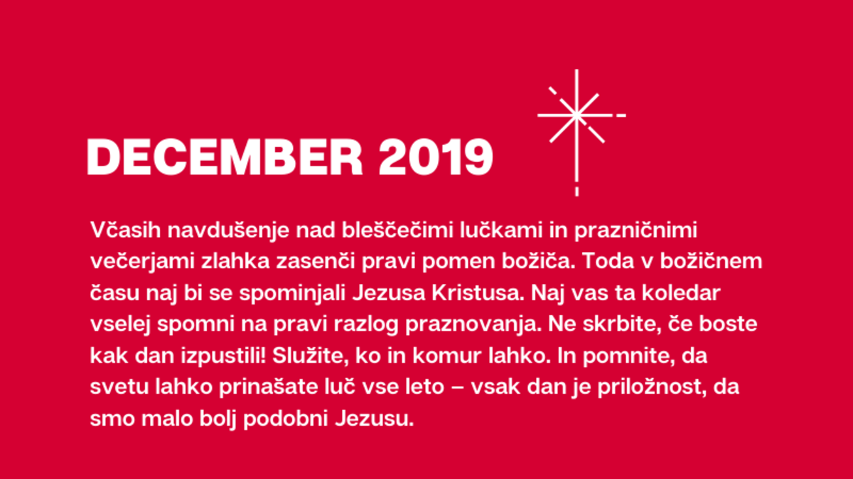 DECEMBER 2019 #Svetuprinesiteluc