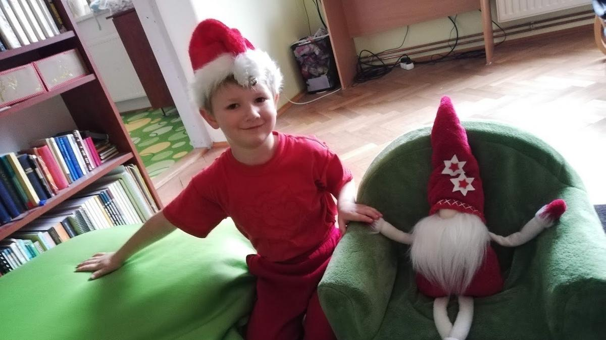 Samko jako vánoční skřítek