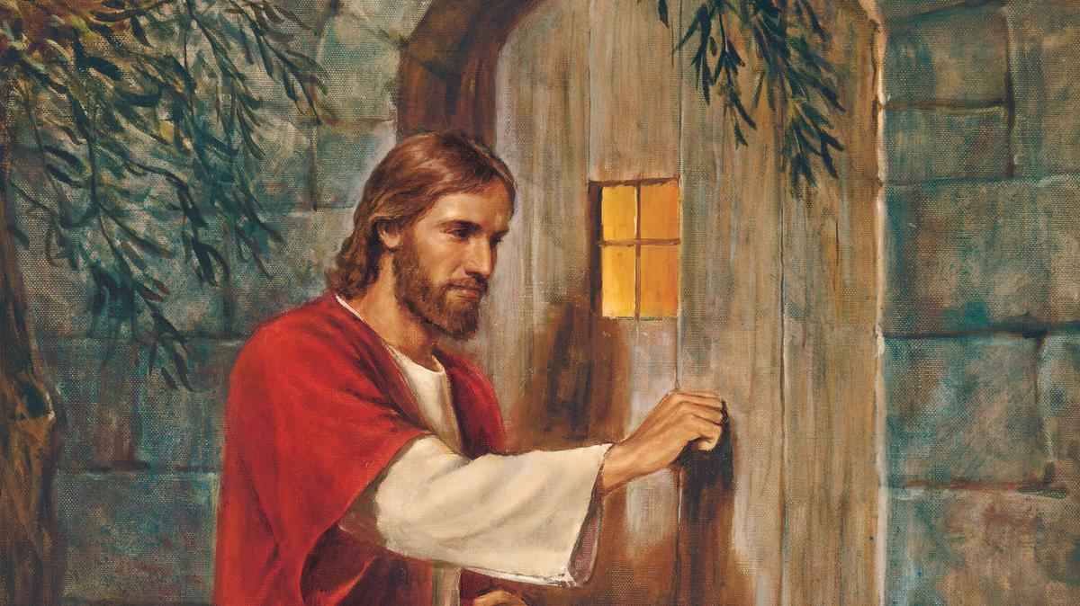Ježíš Kristus klepe na dveře.