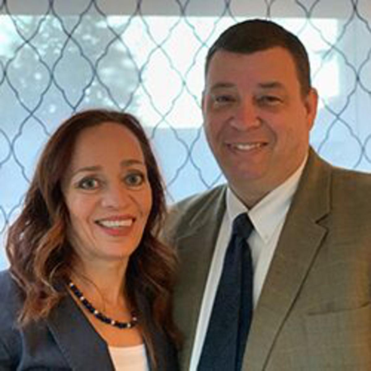 President Jacob G. Gehring s manželkou Tinou