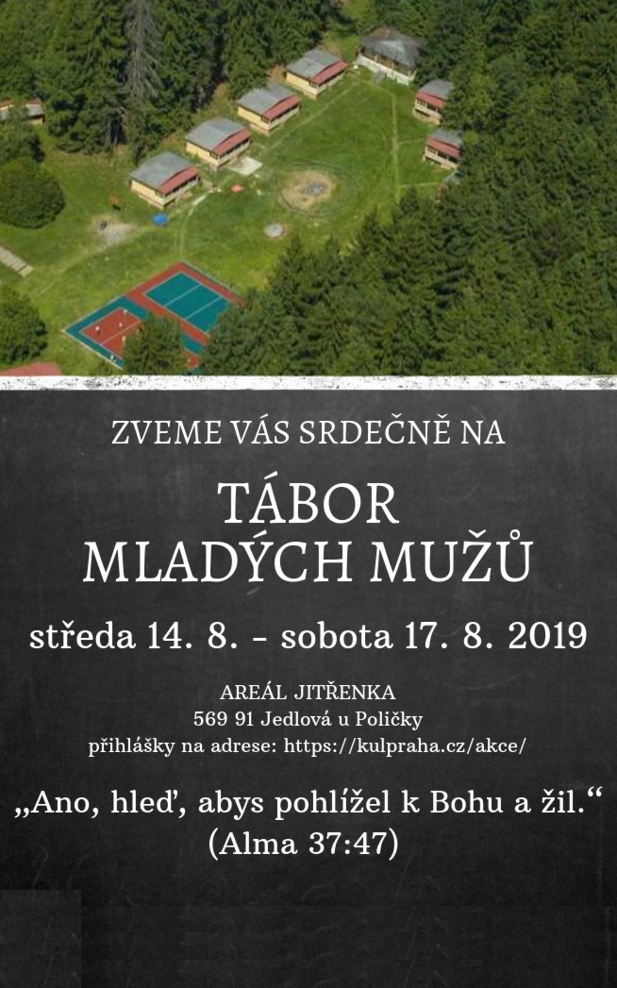 Pozvánka na Tábor Mladých mužů