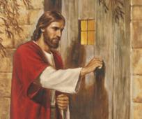 Ježíš Kristus klepe na dveře