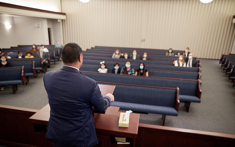 Foto af en kirkesal