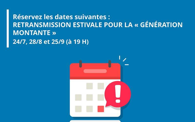 Retransmission estivale intitulée ' Génération montante', un programme à l'attention des jeunes Européens