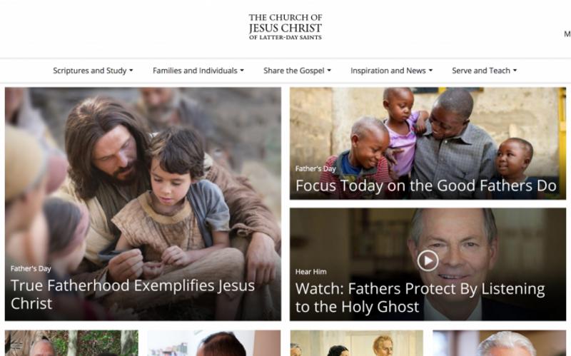 Nouvelle navigation sur le site internet ChurchofJesusChrist.org