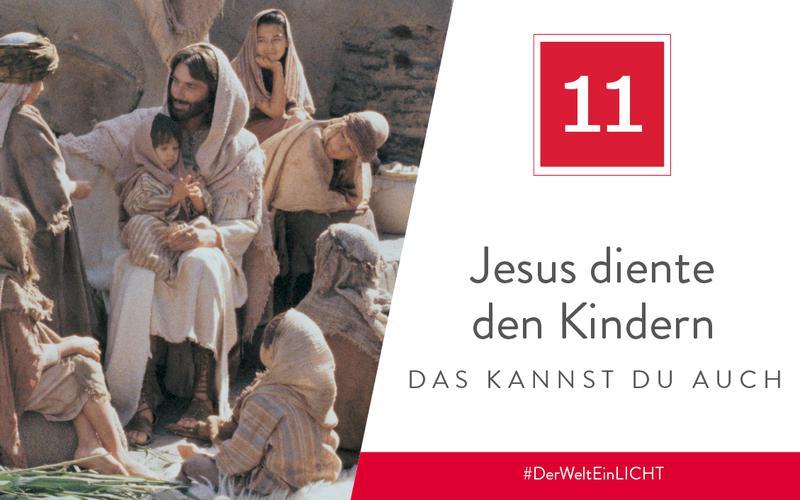 Jesus diente den Kindern – das kannst du auch