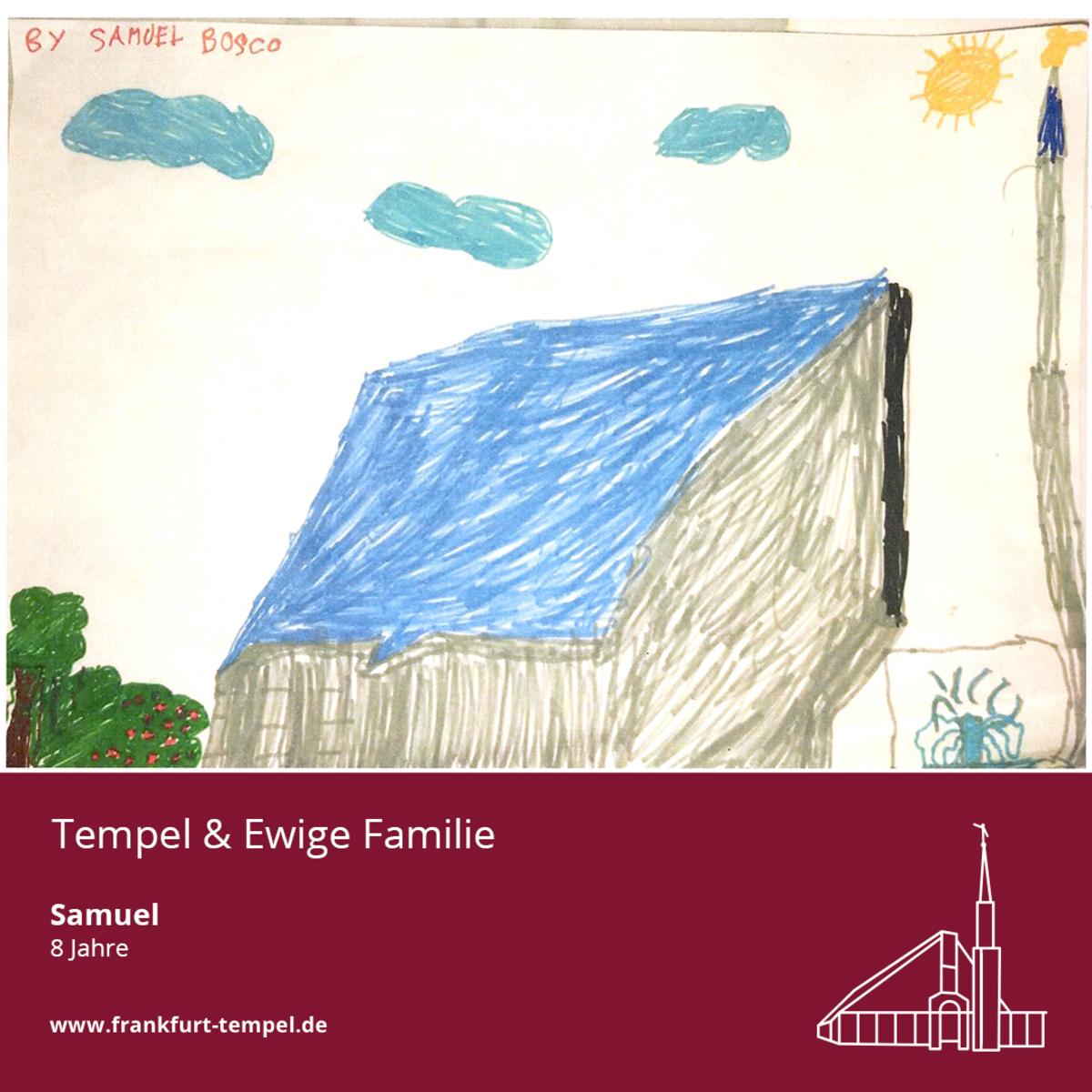 Kinderbilder von einem Tempel