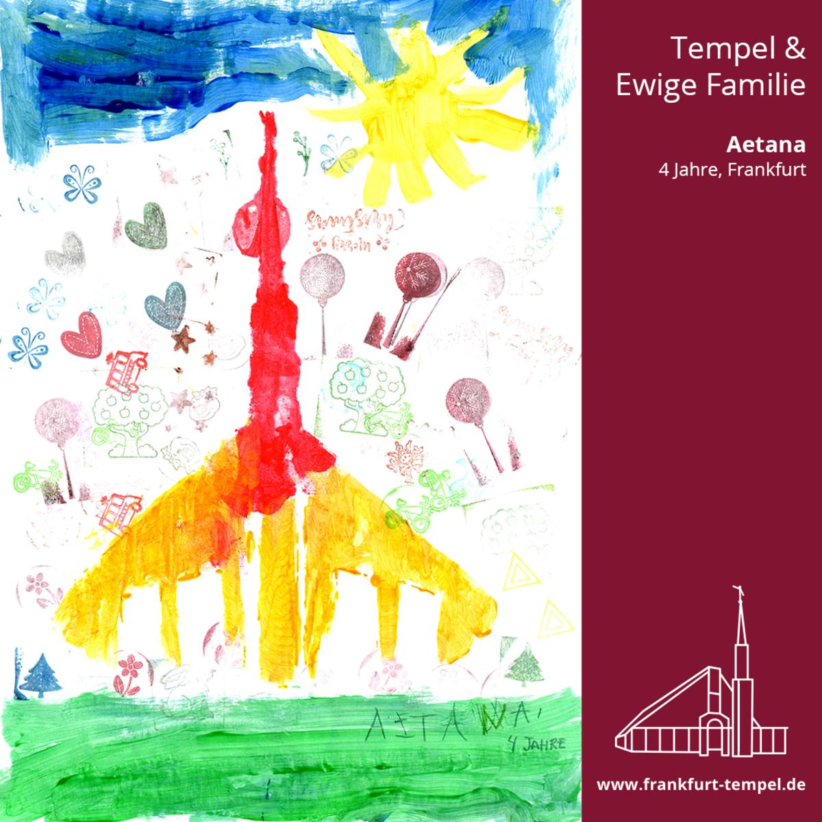 Kinderbild von einen Tempel