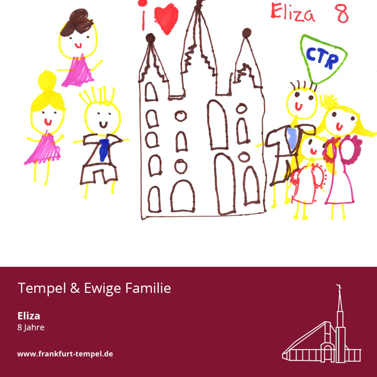 Kinderbild von einem Tempel
