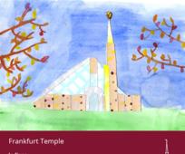 Tempelbild von einem Kind gemalt
