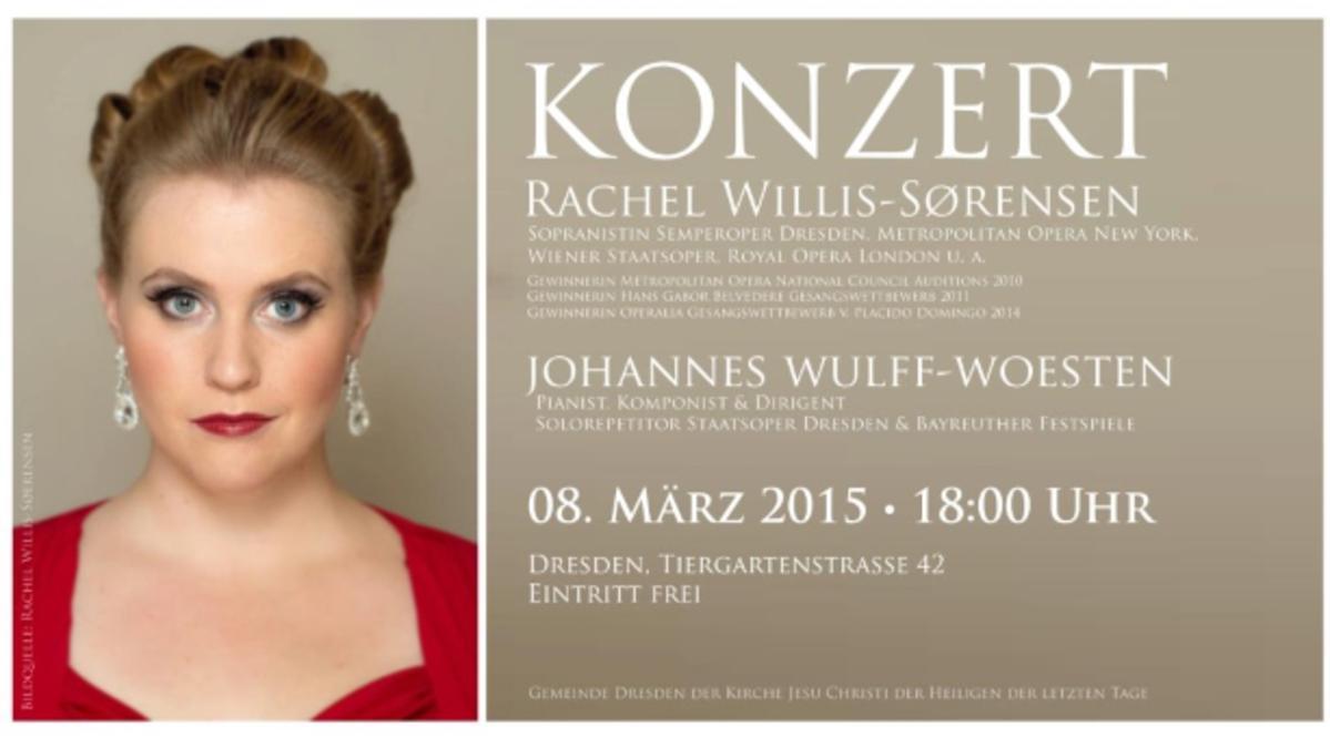 Konzert mit Schwester Rachel Willis-Soerensen