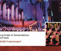 Weihnachtliche Einstimmung mit dem Tabernakel Chor - Übertragung in Friedrichsdorf