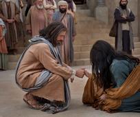 Jézus beszélget a házasságtörő nővel