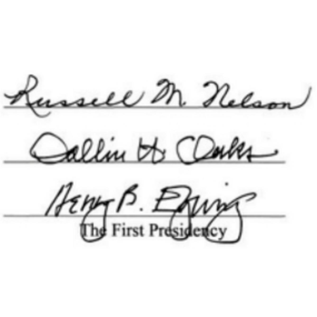 First-Presidency-Signatures